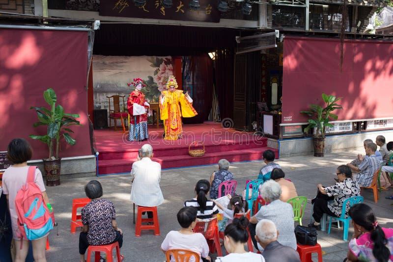 Völker, die Cantoneseoper aufpassen lizenzfreies stockbild