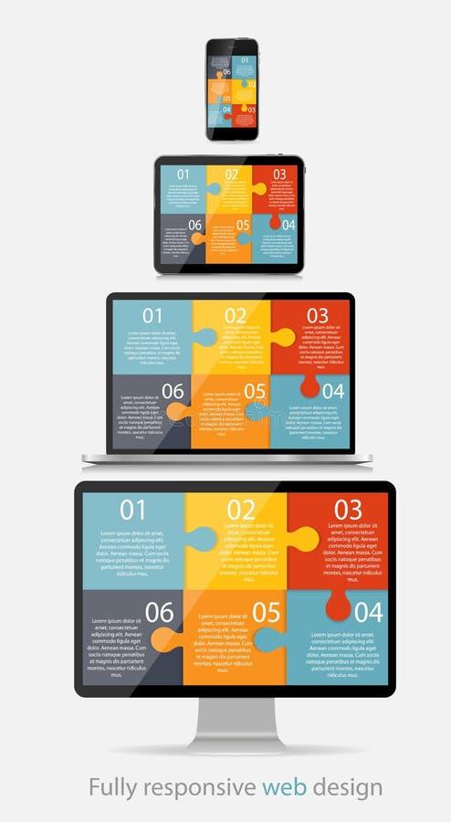 Völlig entgegenkommende Webdesign-Konzept-Vektor-Illustration lizenzfreie abbildung