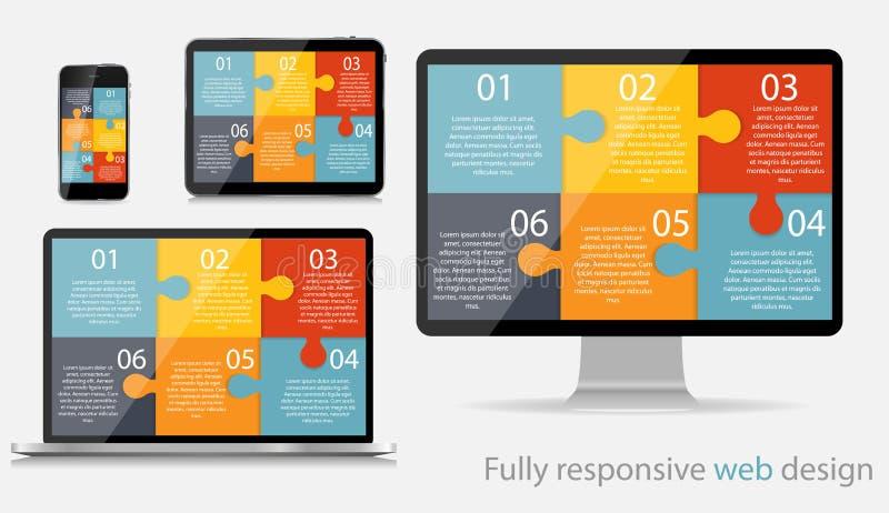 Völlig entgegenkommende Webdesign-Konzept-Vektor-Illustration vektor abbildung