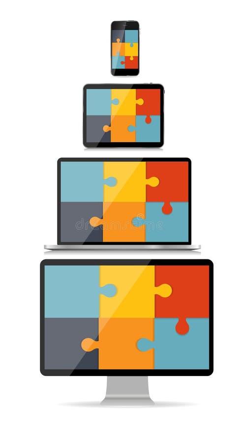 Völlig entgegenkommender Webdesign-Konzept-Vektor stock abbildung