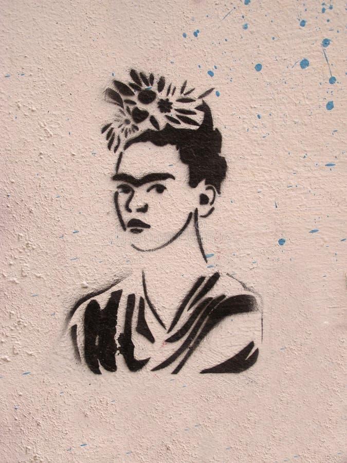 Vördnad till Frida Kahlo royaltyfria foton