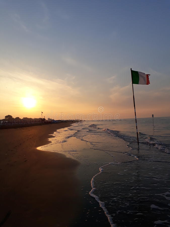 Bibione beach Italy est royalty free stock photography
