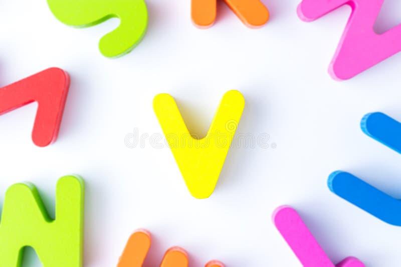 v信件用英语 库存照片