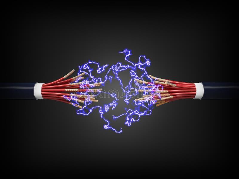 220v电缆电欧洲力量类型 向量例证