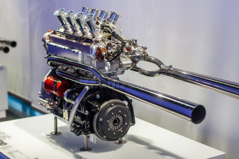 V8 αθλητική μηχανή στοκ εικόνες
