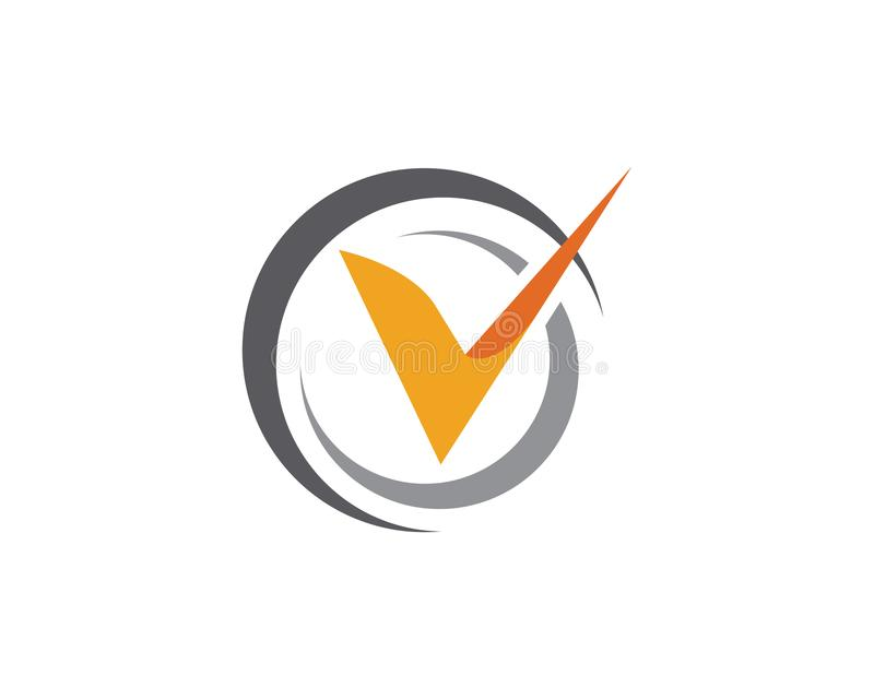 V вектор шаблона логотипа письма иллюстрация вектора