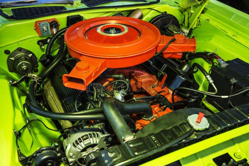 V-8引擎 库存照片