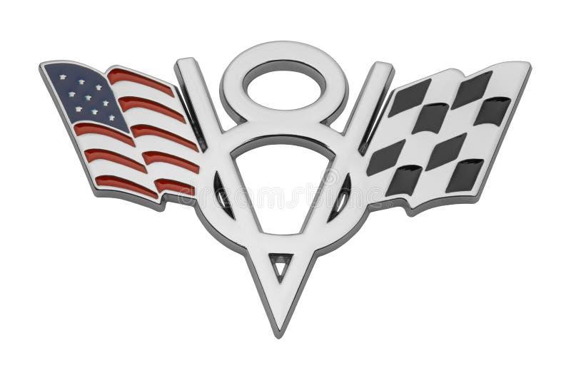 V-8赛车商标 库存例证