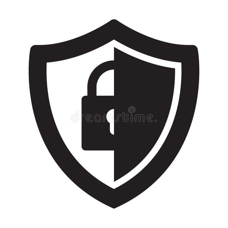 Vector shield icon. Security vector icon. Protection icon royalty free stock photo