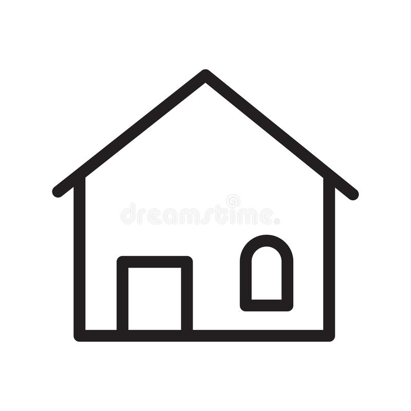 Real estate - House Icon royalty free stock image
