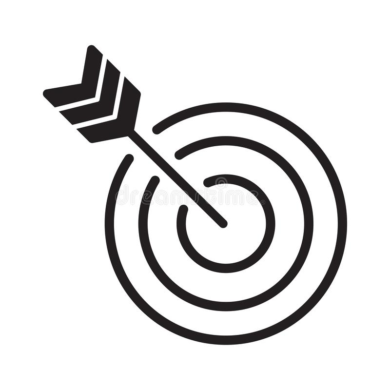Goal Target Vector Icon Design Template royalty free stock photos