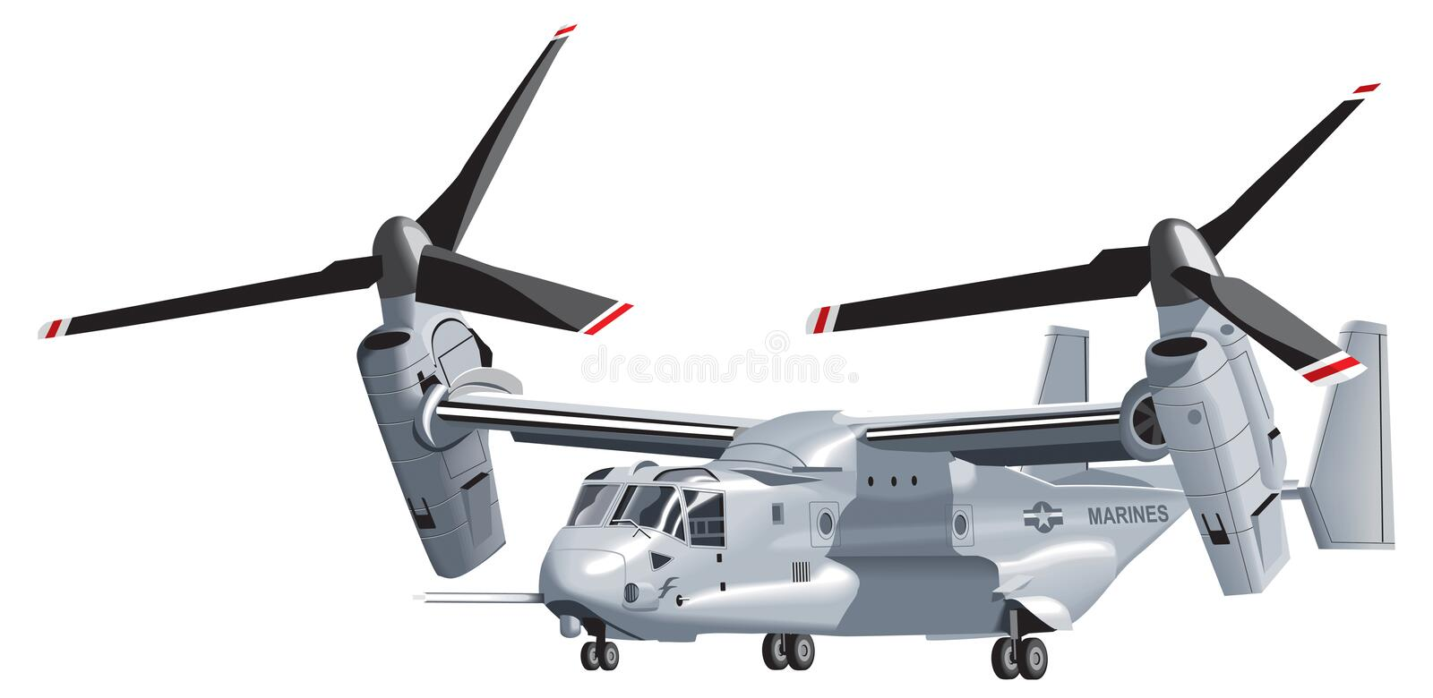 Download V-22 Osprey stock vector. Image of fight, aircraft, helicopter - 7499855