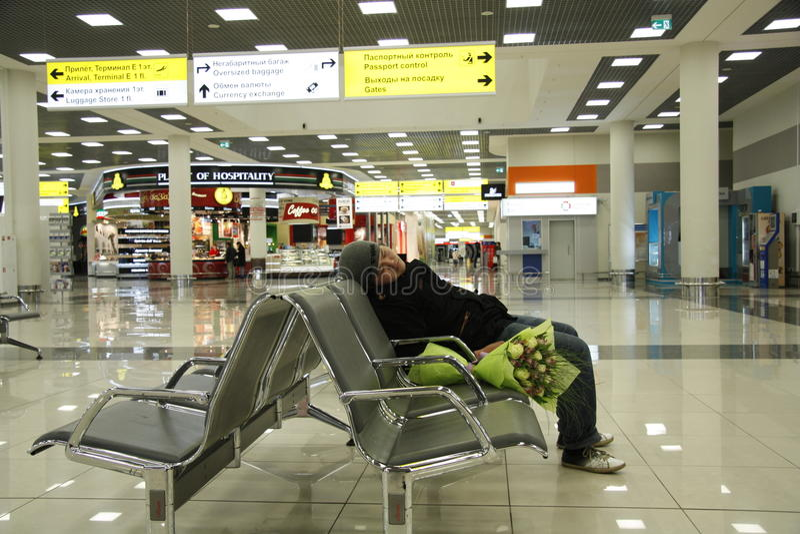 vänta för flygplats arkivfoton