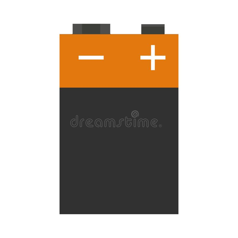9v battery front view vector flat icon sign isolated on white royalty free stock image