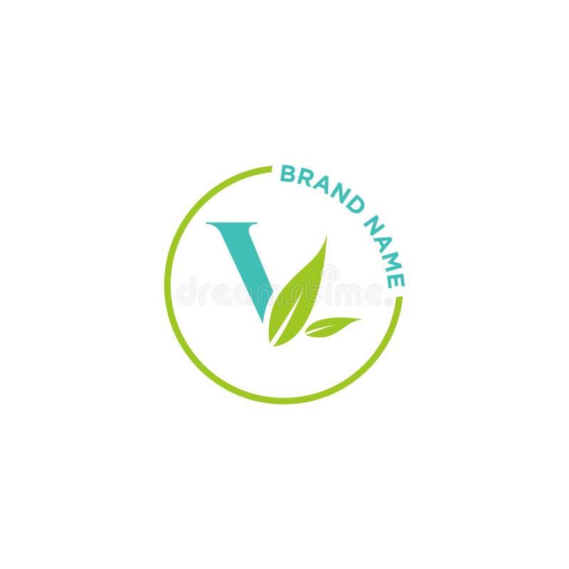 V-bokstavslogo eller initialer för affär stock illustrationer