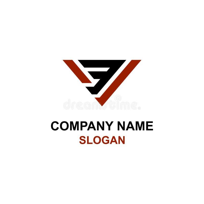 V3 brieven aanvankelijk embleem stock illustratie