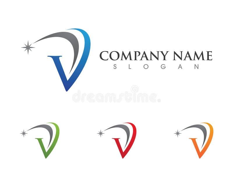 V Buchstabe Logo Template stock abbildung
