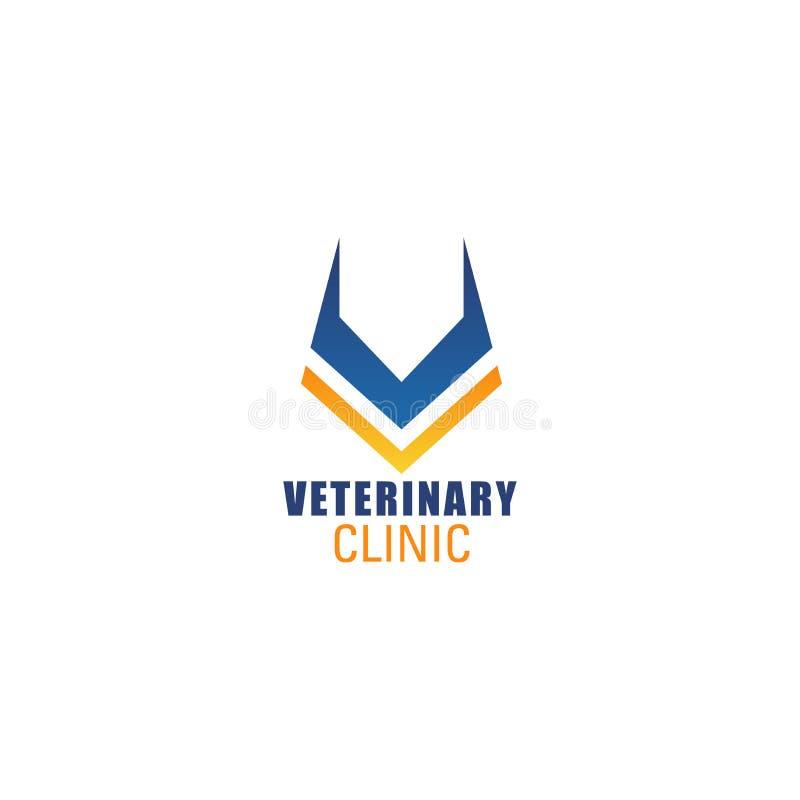 V-Buchstabevektorikone für Veterinärklinik lizenzfreie abbildung