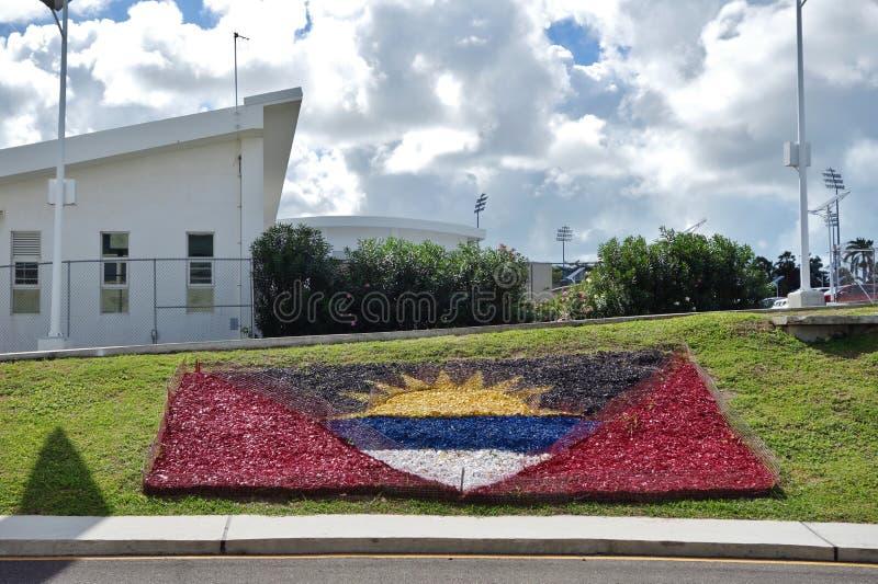 The V. C. Bird International Airport ANU in Antigua stock photos