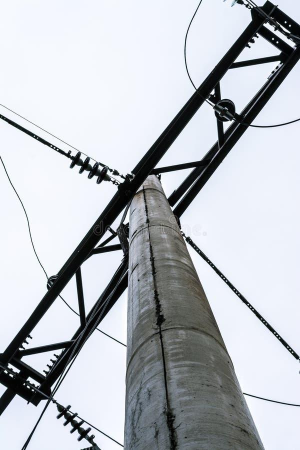 220v cable europejskiego organu typu elektrycznego Filar Makro- strzelanina obrazy royalty free