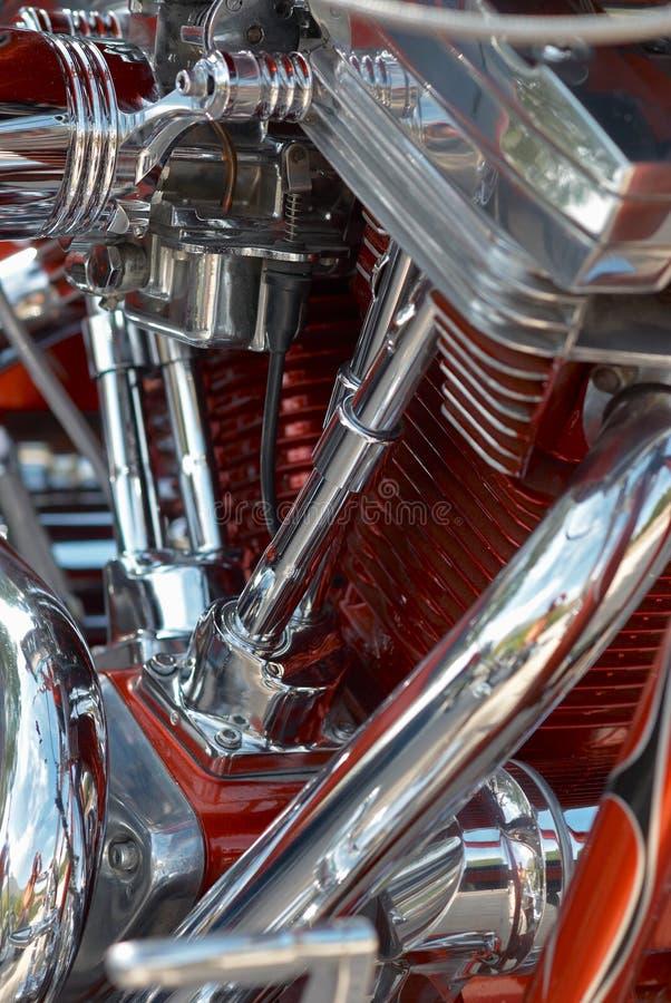 V- Doppelmotorradmotor lizenzfreie stockfotografie