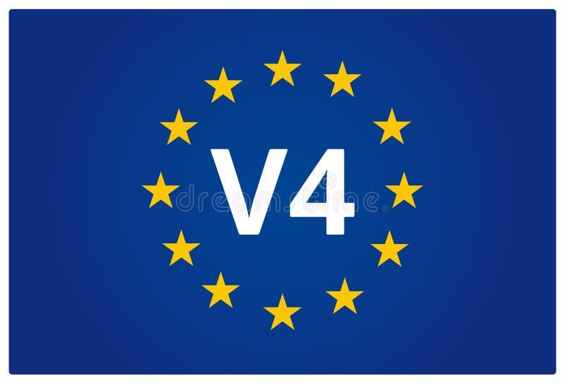 V4 EU flag stock illustration