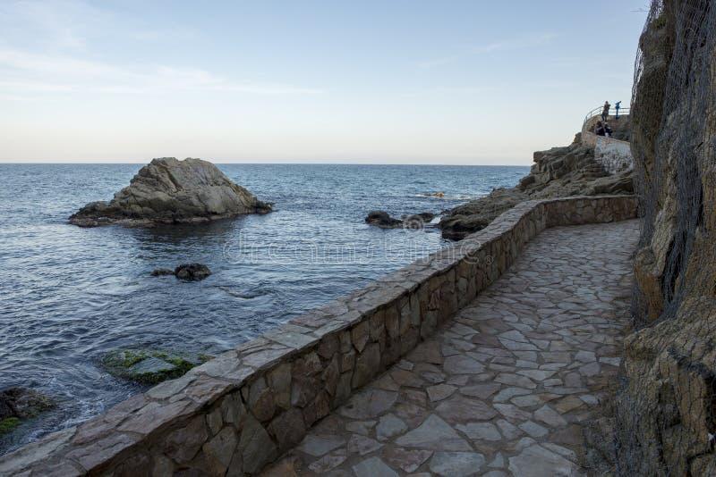 V?garna av Ronda i Lloret de Mar, Costa Brava arkivfoto