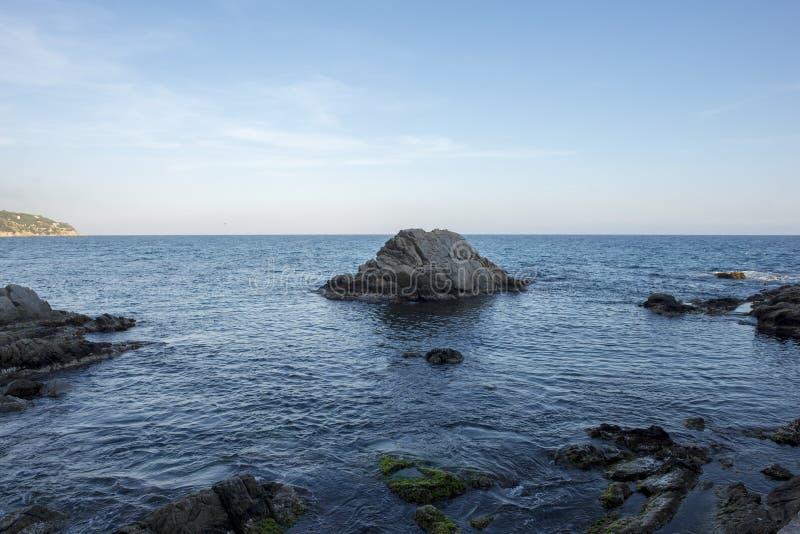 V?garna av Ronda i Lloret de Mar, Costa Brava royaltyfri foto