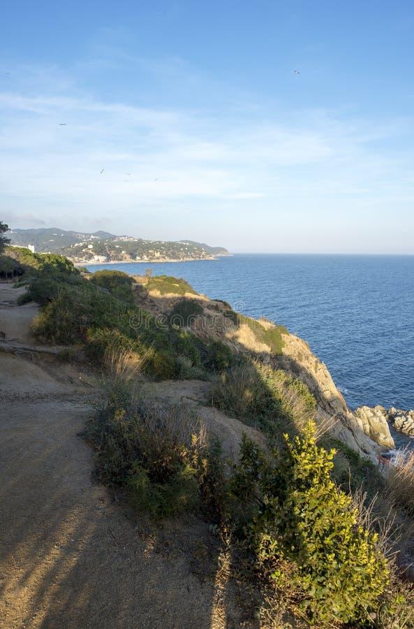V?garna av Ronda i Lloret de Mar, Costa Brava arkivfoton