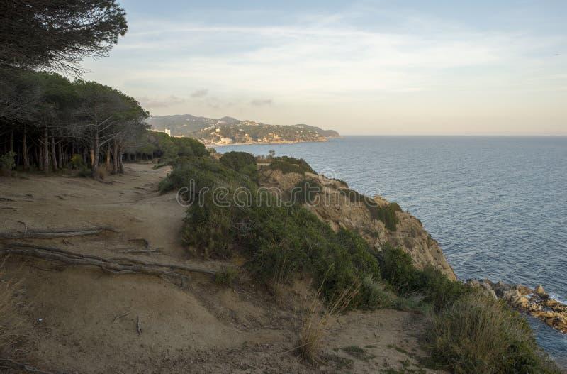 V?garna av Ronda i Lloret de Mar, Costa Brava fotografering för bildbyråer