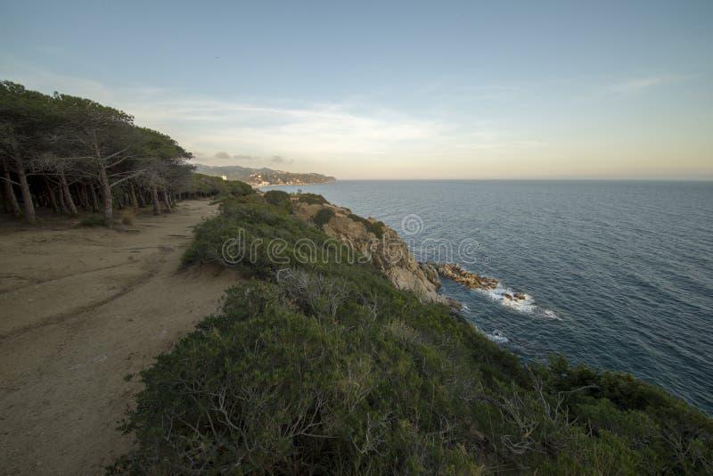 V?garna av Ronda i Lloret de Mar, Costa Brava royaltyfria bilder