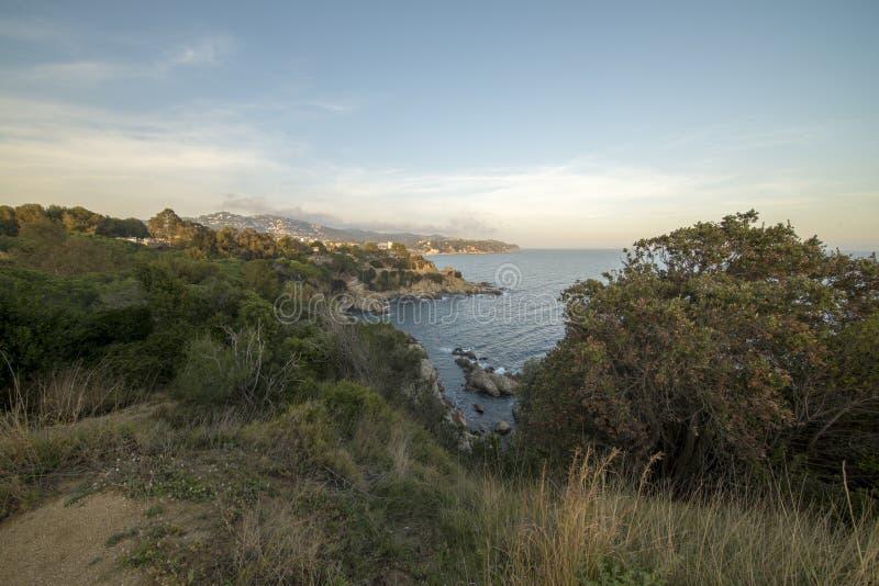V?garna av Ronda i Lloret de Mar, Costa Brava arkivbilder