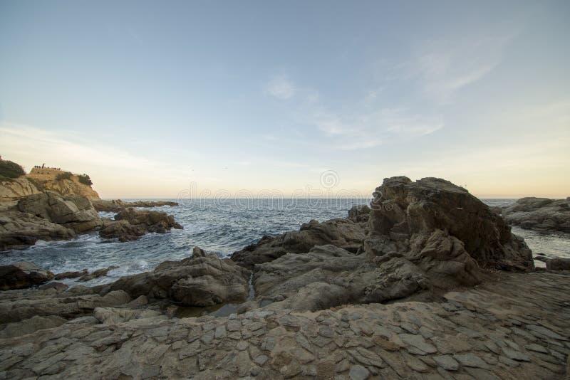 V?garna av Ronda i Lloret de Mar, Costa Brava royaltyfri fotografi