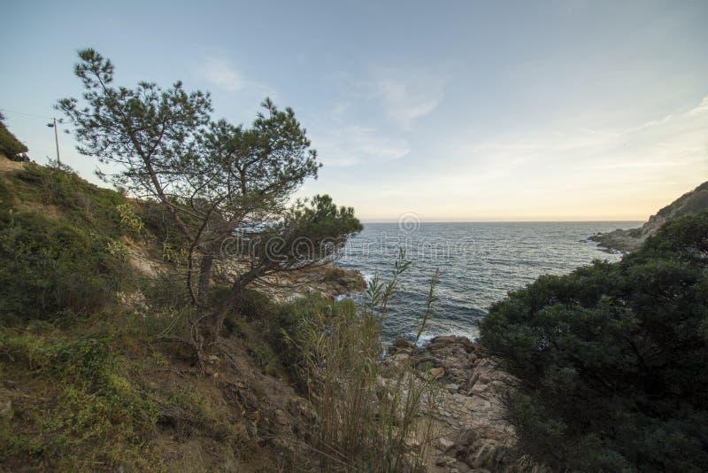 V?garna av Ronda i Lloret de Mar, Costa Brava arkivbild