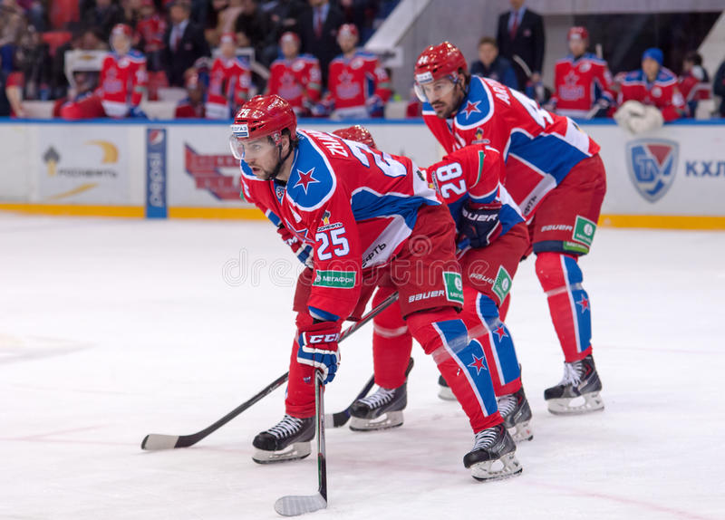 V. Gharkov (25) and E. Artukhin (44) stock photography