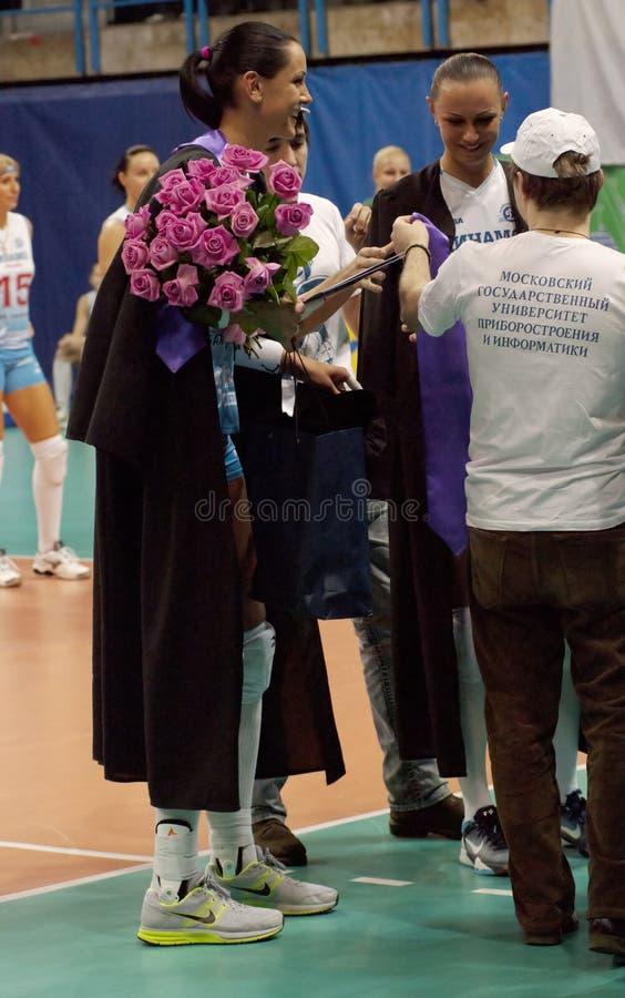 V. Goncharova and N. Obmochaeva royalty free stock photography
