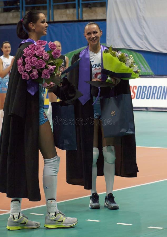 V. Goncharova and N. Obmochaeva stock photos