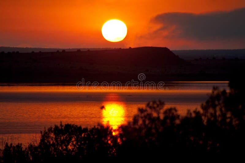 V?gtur: Santa Rosa Lake royaltyfri foto