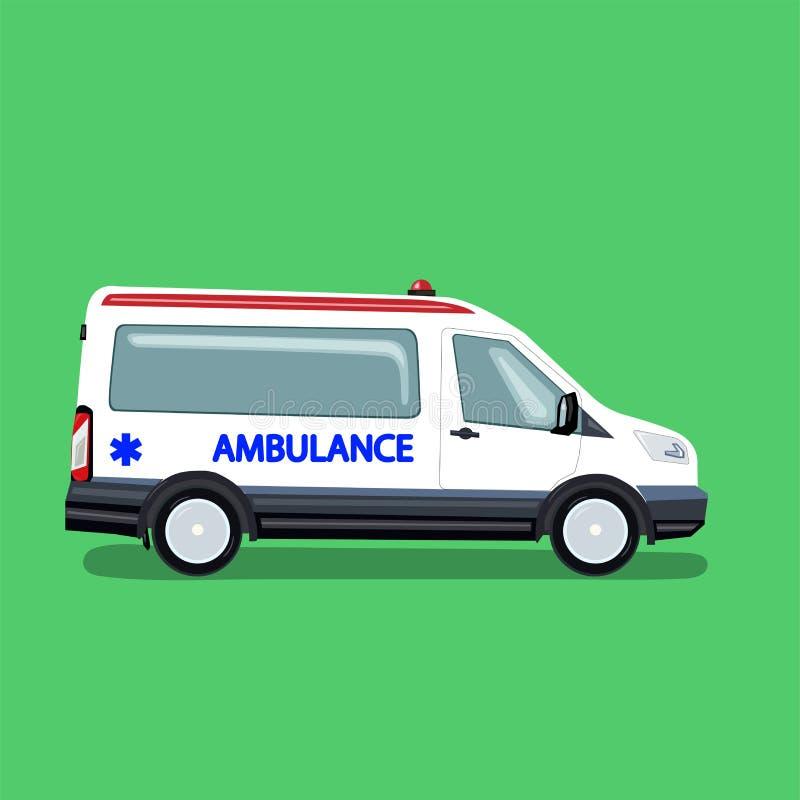 V?hicule d'ambulance Monospace pour transporter des patients Illustration de vecteur dans le style plat photographie stock