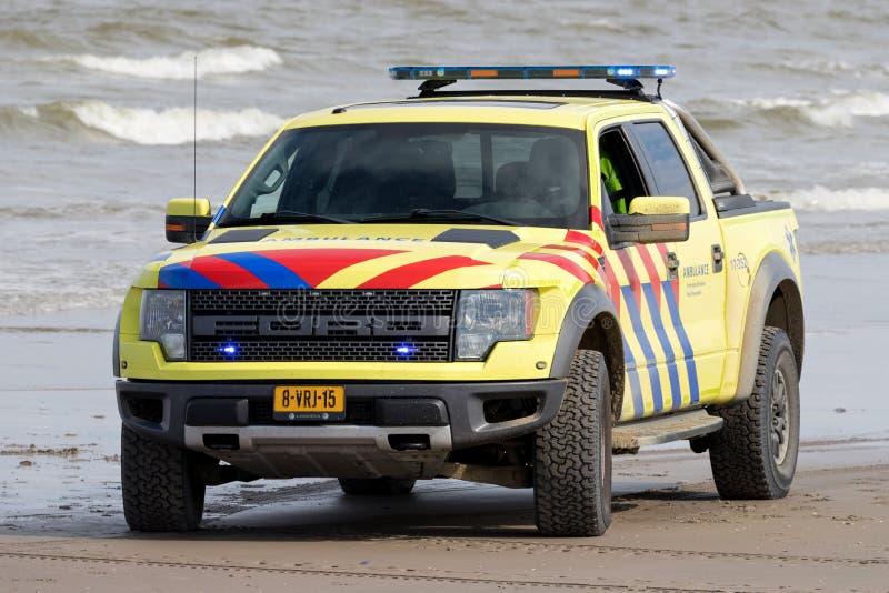 V?hicule n?erlandais d'ambulance photos stock