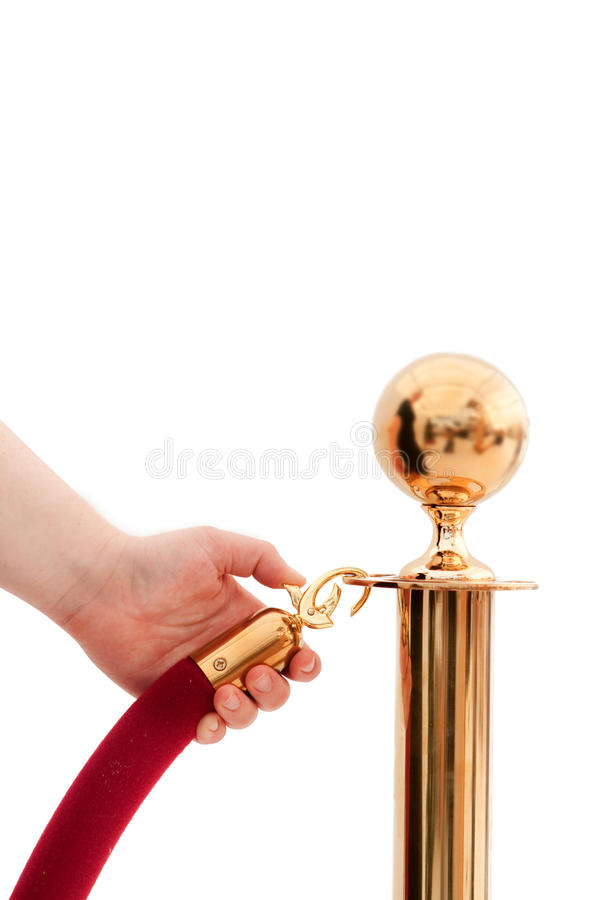Free V.I.P Only!!! Hand Opening Red Rope Royalty Free Stock Photo - 12499285