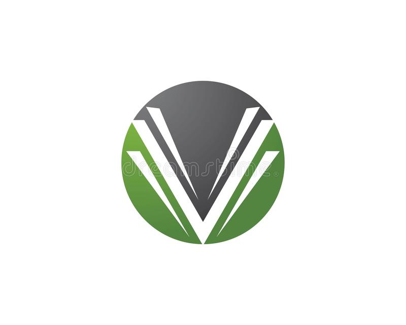 V letra Logo Template ilustração do vetor