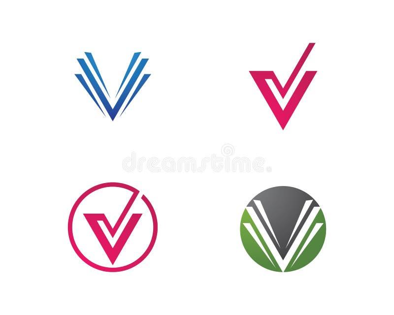 V letra Logo Template ilustração royalty free