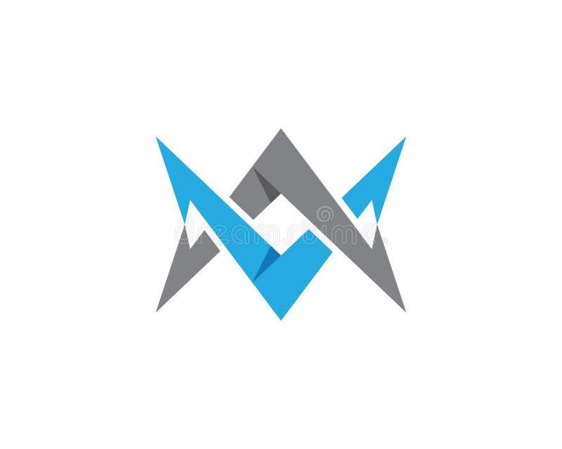 V Letter Logo Template royalty free illustration