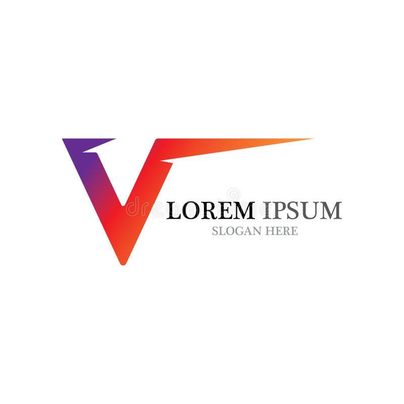 V Letter Logo Template vector vector illustration