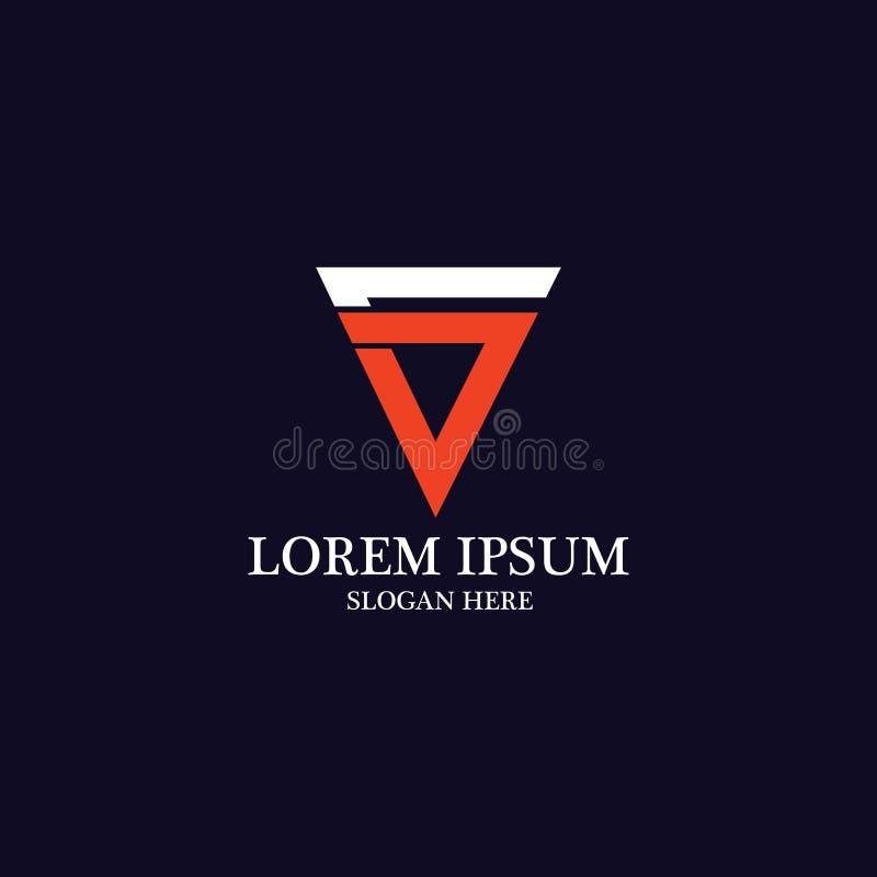 V Letter Logo Template vector stock illustration