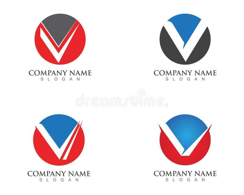 V letters business logo and symbols template vectors.  stock illustration