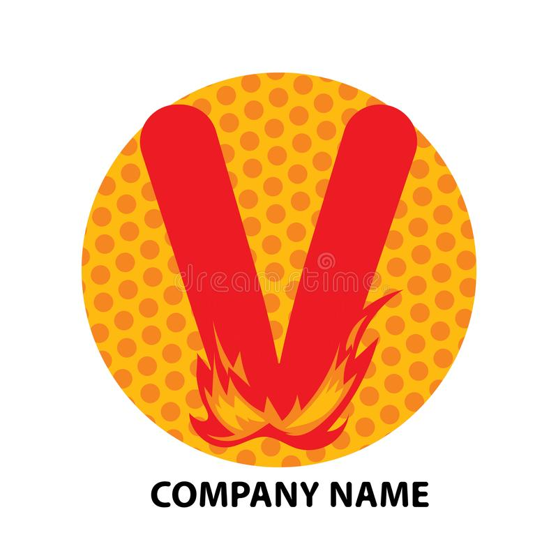 V lettre Logo Design illustration de vecteur