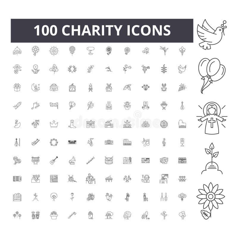 V?lg?renhetlinje symboler, tecken, vektorupps?ttning, ?versiktsillustrationbegrepp royaltyfri illustrationer