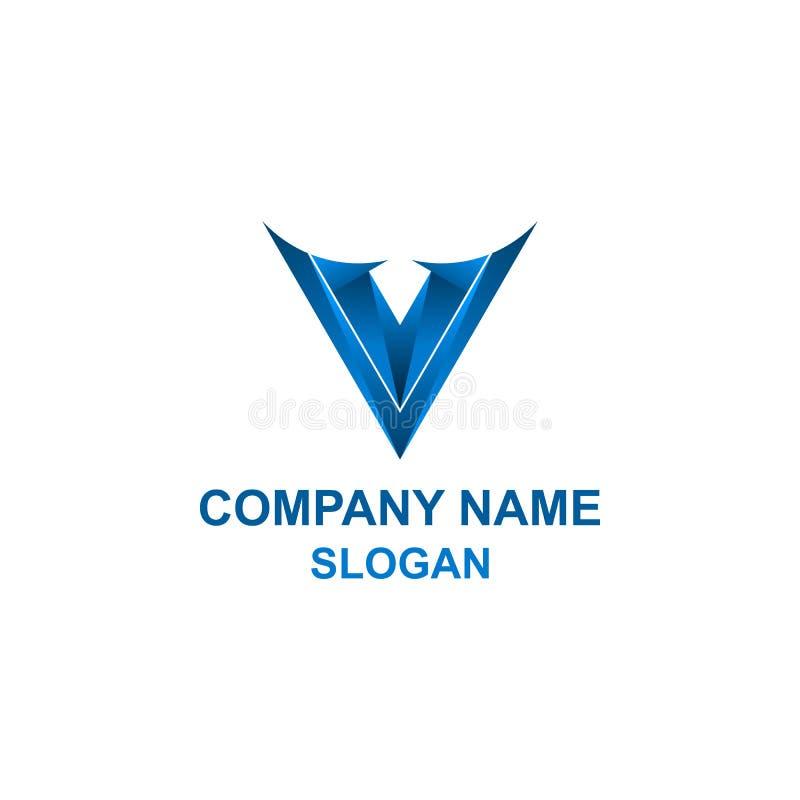 V listu początkowy logo ilustracja wektor
